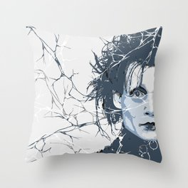 Scissorhands Throw Pillow