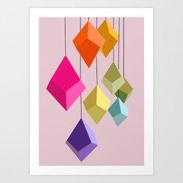 Hanging Ornaments Art Print