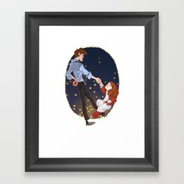 Little Amelia and her Raggedy man. Framed Art Print