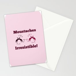 Moustaches are irresistible- seals Stationery Cards