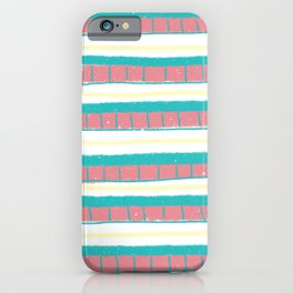 Beach day lines iPhone Case
