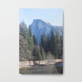 Half Dome and Merced River Metal Print