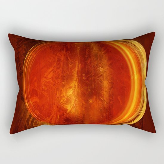 meditation orange Rectangular Pillow