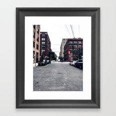 UIC Street Framed Art Print
