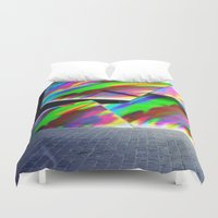 graffiti Duvet Covers featuring Graffiti by MehrFarbeimLeben
