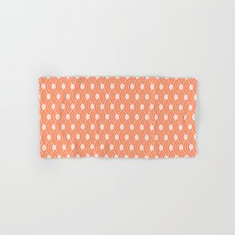 Living Coral Color Scales Pattern Hand & Bath Towel