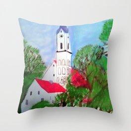 Kirche von Ergolding Throw Pillow