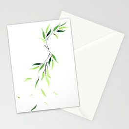 Falling Leaves - Emerald Stationery Cards