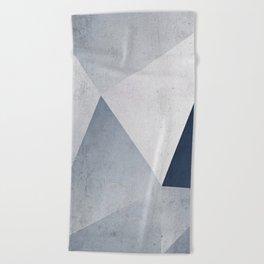 Indigo Minimal Geometry Beach Towel