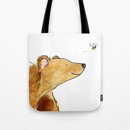 Bear & Bee Watercolor Tote Bag