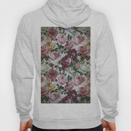 Vintage & Shabby chic - retro floral roses pattern Hoody