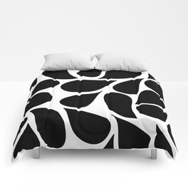 Abstract Black & White Foliage Pattern - Mix and Match with Simplicity of Life Comforters