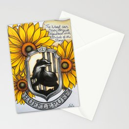 Hufflepuff Charm Stationery Cards