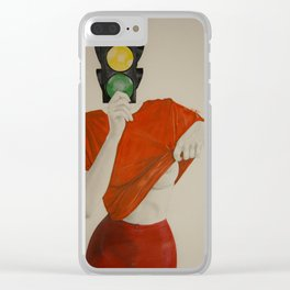 red light/ green light Clear iPhone Case