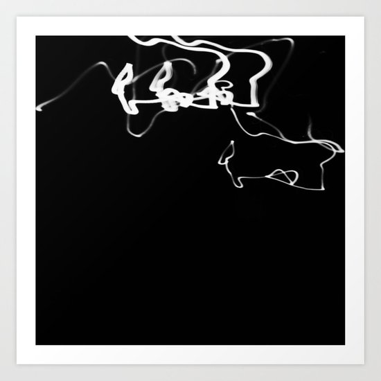 Black light Art Print