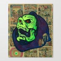 skeletor Canvas Prints featuring Skeletor by Beery Method