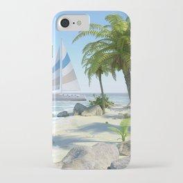 Tropical Island Paradise iPhone Case