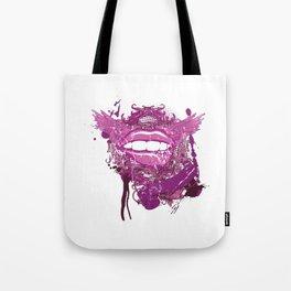 Purple Lipstick Tote Bag