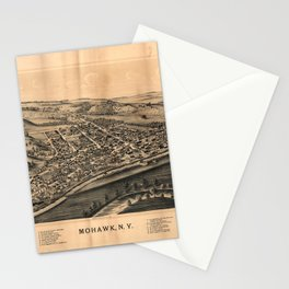 Aerial View of Mohawk, New York (1893) Stationery Cards