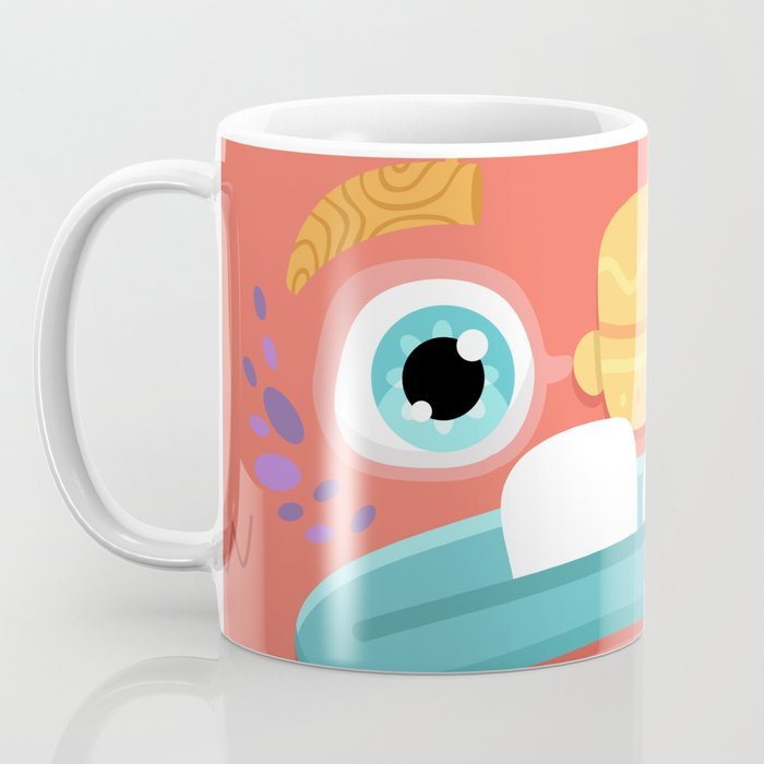 Red Monster Coffee Mug