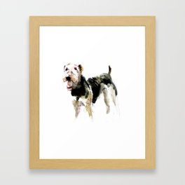 Airedale Terrier on watercolor Framed Art Print