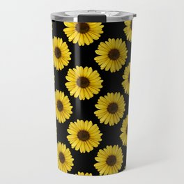 Golden Daisy Flowers Travel Mug