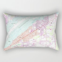 Vintage Map of Fort Myers Florida (1958) Rectangular Pillow