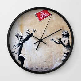 Banksy, Ball Games Wall Clock