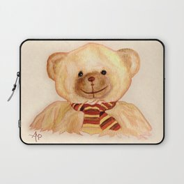 Cuddly Bear Watercolor Laptop Sleeve