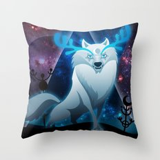 The wonder wolf Throw Pillow