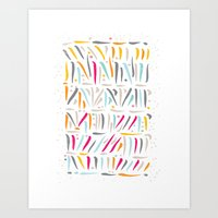 the strokes Art Prints featuring BRUSH STROKES by Matthew Taylor Wilson
