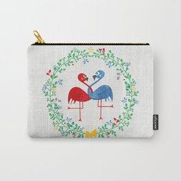 FlamingosTangled in Love Carry-All Pouch