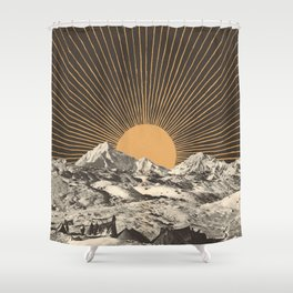 Mountainscape 6 - Night Sun Shower Curtain