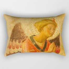 """Fra Angelico (Guido di Pietro) """"Music-making angel, Detail from the Linaioli Tabernacle"""" 3. Rectangular Pillow"""