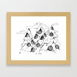 MT. Pizza Framed Art Print