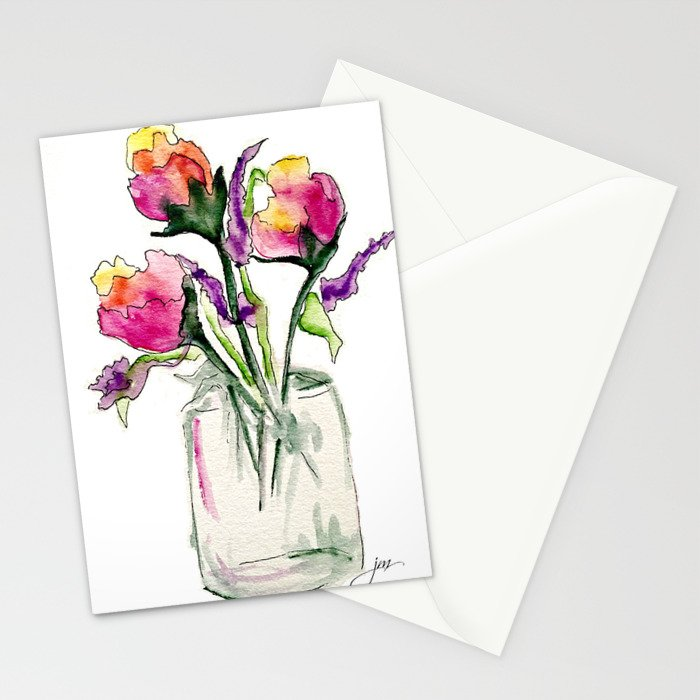 Ombre roses Stationery Cards
