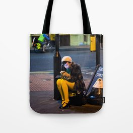 Lady in Yellow - Brick Lane, London Tote Bag