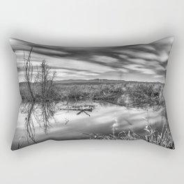 """Mammoth Paradise II"" Bw Rectangular Pillow"