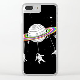 Space Carousel Clear iPhone Case