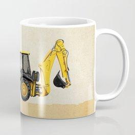 Construction Backhoe Coffee Mug