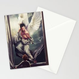 Supernatural: Angel watching over you Stationery Cards