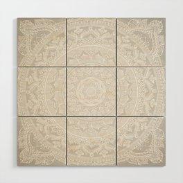 Mandala Soft Gray Wood Wall Art