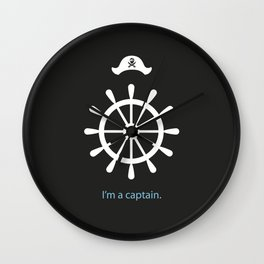 I'm a captain.(on black) Wall Clock