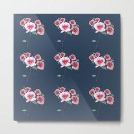 Watercolor Floral Bouquet Pattern Metal Print