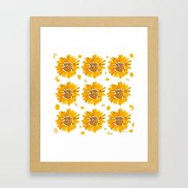 Sunny Sunflowers Framed Art Print