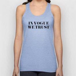 In Vogue We Trust Unisex Tank Top