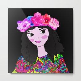 Spring in the Heart of Winter | Kids Painting Metal Print