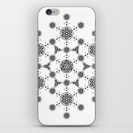 molecule. alien crop circle. flower of life and celtic patterns iPhone Skin