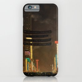 Midtown Manhattan - New York City Night Scene painting by T.S. Simon iPhone Case