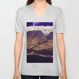 Purple Hills Unisex V-Neck